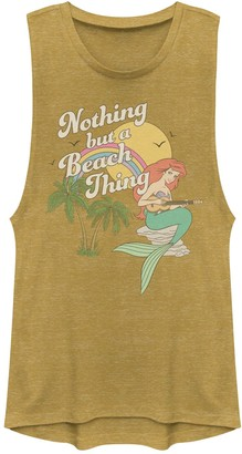 "Disney Juniors' Disney's The Little Mermaid ""Nothing But A Beach Thing"" Muscle Tank Top"