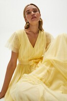 Thumbnail for your product : Coast Tulle V-Neck Tie Belt Maxi Dress