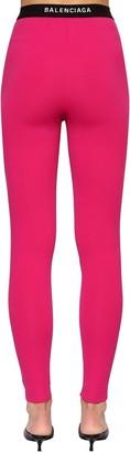 Balenciaga Intarsia Logo Tech Jersey Leggings