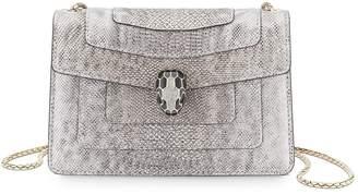 Bvlgari Mini Metallic Karung Serpenti Forever Cross Body Bag