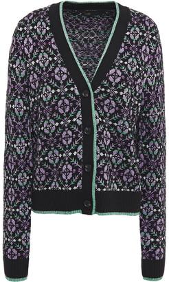 Maje Metallic Jacquard-knit Cardigan