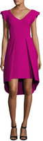 La Petite Robe di Chiara Boni Lione Pleated Jersey Cocktail Dress, Pink