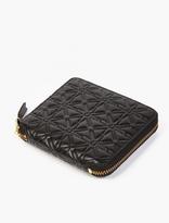 Comme des Garcons Black Embossed Leather Wallet