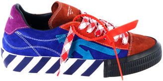 Off-White Color-Block Suede And Rubber Sneakers