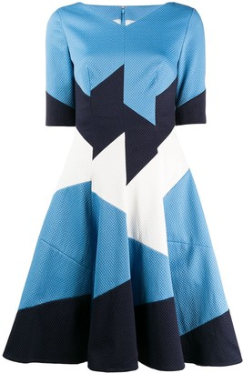 Talbot Runhof Bolko panelled dress