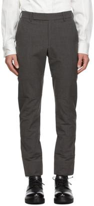 Cornerstone Grey Wool Paneled Trousers