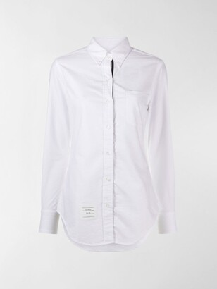 Thom Browne Logo-Patch Button-Down Shirt