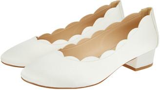 Monsoon Sasha Scallop Edge Bridal Shoe Ivory