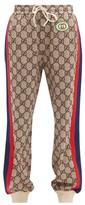 Gucci GG-print Web-stripe Track Pants - Womens - Brown Multi