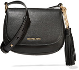 MICHAEL Michael Kors Elyse Medium Textured-leather Shoulder Bag - Black