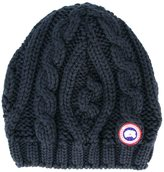 Canada Goose chunky cable knit beanie hat