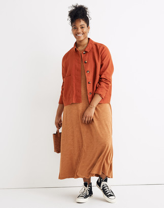 Madewell Linen Connor Cropped Chore Jacket