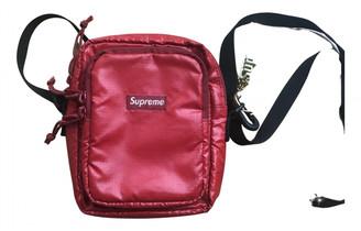 Supreme Red Cloth Handbags