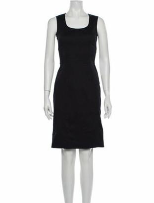 Dolce & Gabbana Scoop Neck Knee-Length Dress Blue