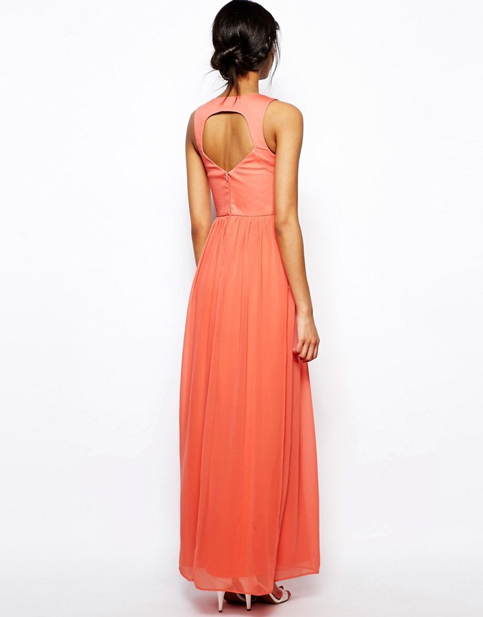 Asos Maxi Dress With Embellished Bodice