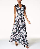 Fame and Partners Floral-Print Gown