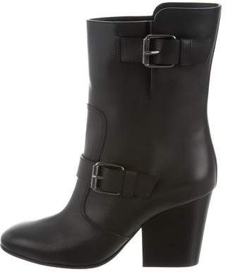 Giuseppe Zanotti Leather Round-Toe Ankle Boots w/ Tags