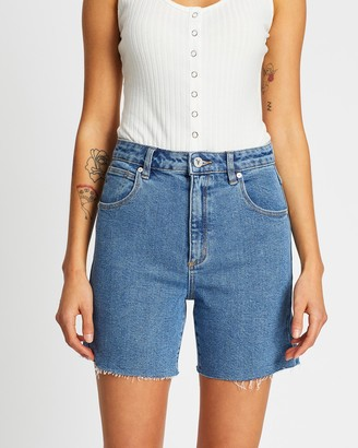 Abrand - Women's Blue Denim - A Claudia Cut Offs - Size 6 at The Iconic
