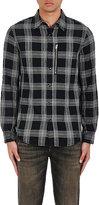 R 13 Men's Plaid Cotton-Blend Shirt-Black Size Xs