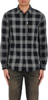 R 13 Men's Plaid Cotton-Blend Shirt