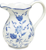 AA Importing Blue Floral Pitcher