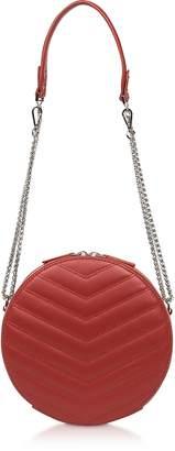 Lancaster Paris Parisienne Quilted Leather Round Crossbody Bag