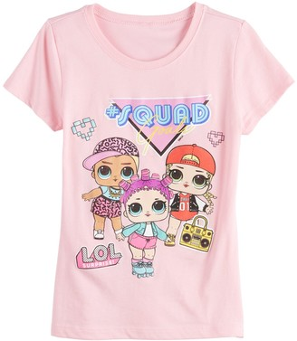 Freeze Girls 7-16 LOL Surprise Squad Goals Short Sleeve Tee