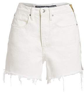 Alexander Wang Women's Side Zipper Denim Shorts