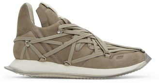 Rick Owens Taupe Suede Maximal Runner Sneakers