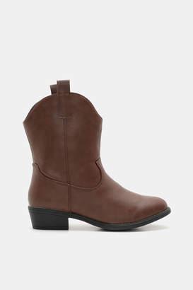 Ardene Mid-Leg Cowboy Boots - Shoes |