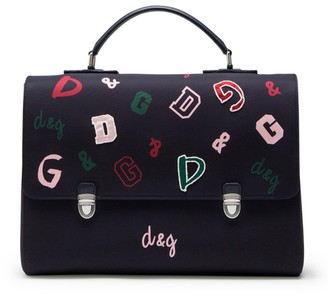Dolce & Gabbana Kids Logo Print Satchel Backpack