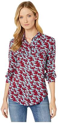 Roper 1013 Rayon Western Blouse (Red) Women's Clothing