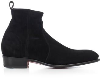 Santoni Texan Ankle Boots W/zip