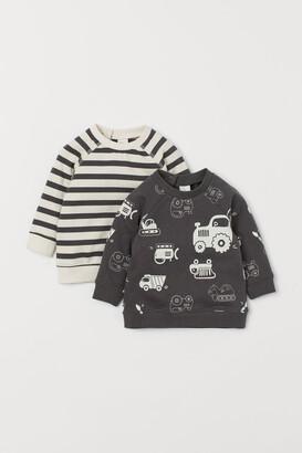H&M 2-pack Cotton Sweatshirts - Gray