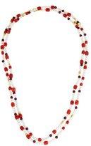 Gurhan Garnet, Coral & Pearl Delicate Flurries Necklace