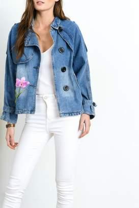 Beautifully Flower Patch Denim Jacket