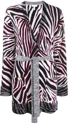 Escada Sport zebra print belted cardigan