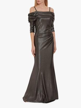 Gina Bacconi Hosanna Metallic Maxi Dress