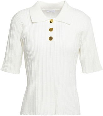 Claudie Pierlot Pointelle-knit Polo Shirt