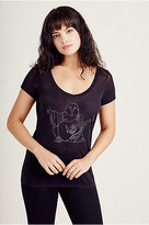 True Religion Glitter Buddha Womens Tee