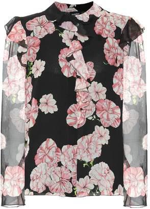 Giambattista Valli Floral silk-crepe blouse