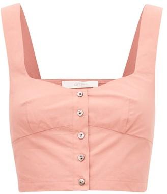 Araks Tilly Cropped Cotton-poplin Top - Womens - Pink