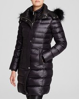 Andrew Marc Gayle Luxe Down Fur Trim Hooded Coat