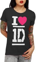 One Direction - I Heart 1D - Girls Youth T-Shirt (, L)