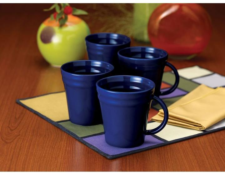 Rachael Ray Double Ridge 4-Piece Mug Set in Blue