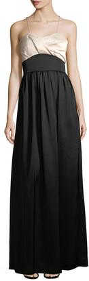 Victoria Beckham Tux Twist Silk-Blend Gown