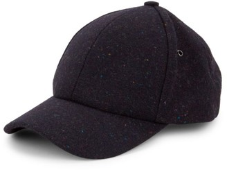 Paul Smith Multi-Stripe Trim Wool Baseball Cap