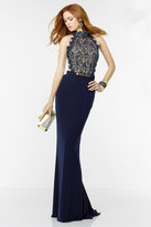 Alyce Paris - Long Prom Dress with Lace Bodice 6529
