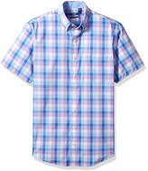 Izod Men's Big and Tall Advantage Performance Short Sleeve Easycare Plaid Shirt