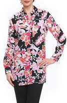 Foxcroft Jade Blooming Floral Tunic Shirt